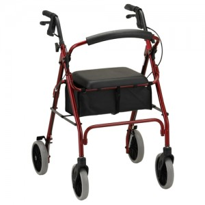 4 Wheel Walker Nova Zoom Red | At Pacific Medical Supply Salem Oregon - Manual Mobility