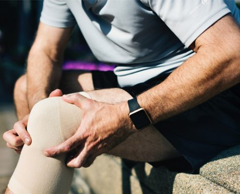 strain vs. sprain - Knee Brace