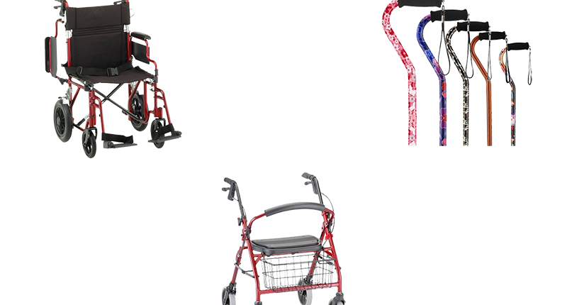 mobility aids, canes, walkers, wheelchair