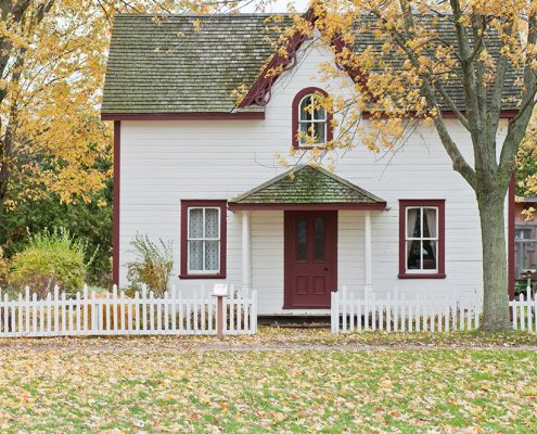 Quaint home in the fall time