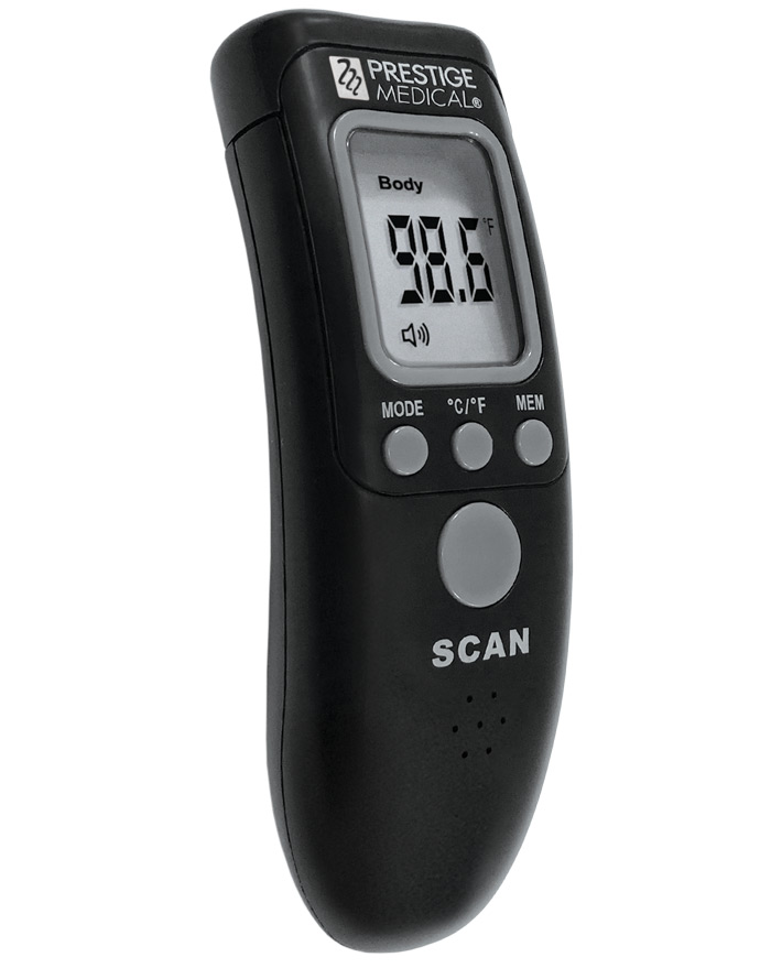 Black non-contact infrared thermometer